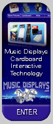 interactive systems, cardboard displays, audio systems, touch screens, wire displays
