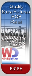 Wire Store Fixtures Retail displays